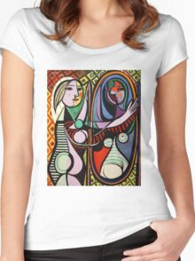 Picasso, Girl Before a Mirror Women's Fitted Scoop T-Shirt