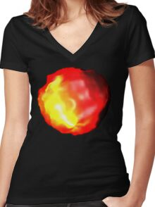 Fire Glow Women's Fitted V-Neck T-Shirt