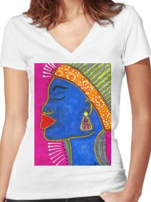 Color Me VIBRANT T-Shirt Women's Fitted V-Neck T-Shirt