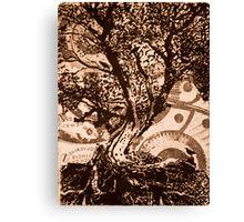 Bird Tree- Intaglio Print Canvas Print