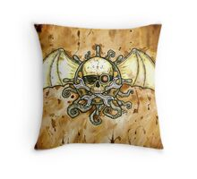 Airships and Tentacles Throw Pillow