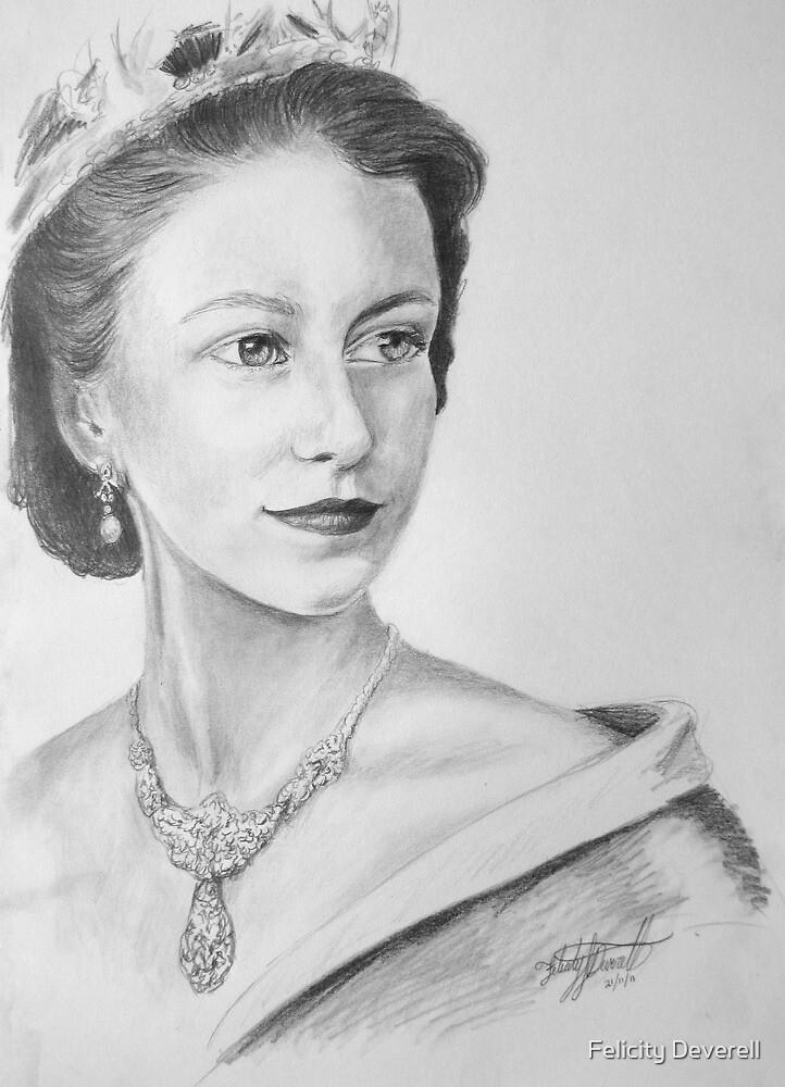 The young Queen Elizabeth II  by Felicity Deverell