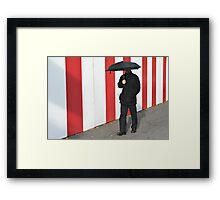 An umbrella comes in handy, even when it's not raining. Framed Print