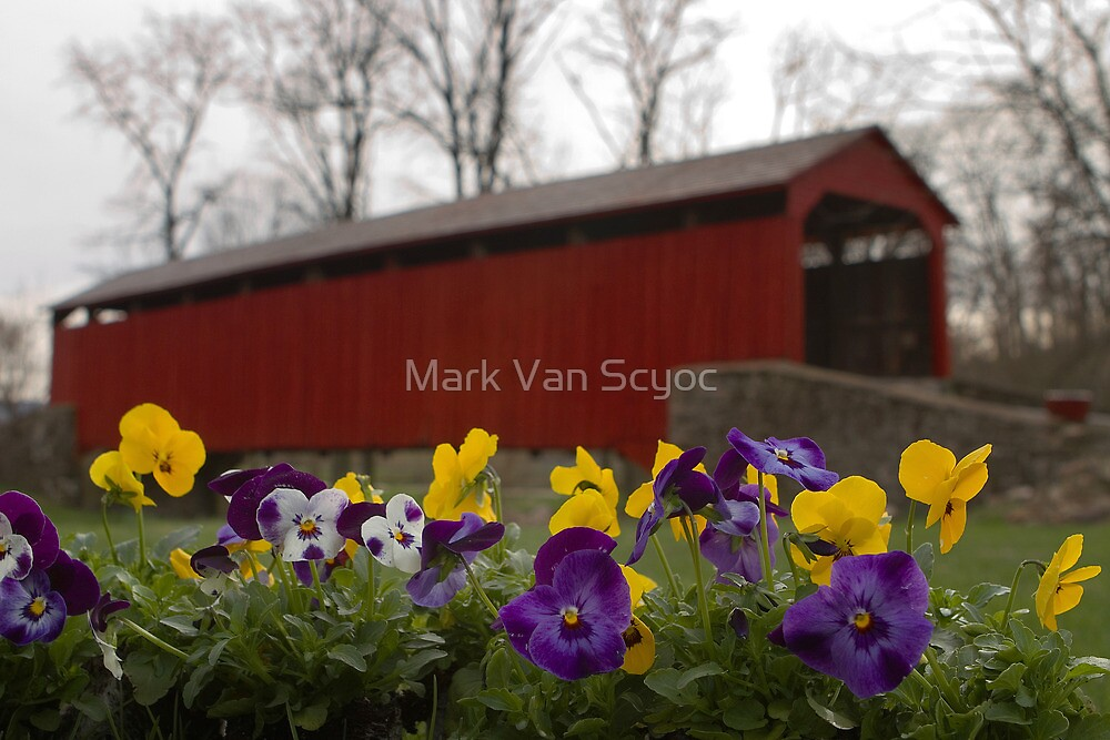 Covered Bridge in Spring by Mark Van Scyoc