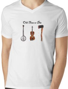 """Old-Time or Die"" T-shirt Mens V-Neck T-Shirt"