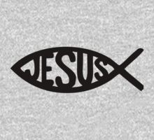 jesus fish by whitechristmas