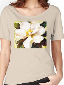 Tuscan Afternoon, Italian Magnolia, mediterranean colours Women's Relaxed Fit T-Shirt