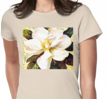 Tuscan Afternoon, Italian Magnolia, mediterranean colours Womens Fitted T-Shirt