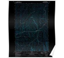 USGS Topo Map Washington State WA Hay 241512 1981 24000 Inverted Poster
