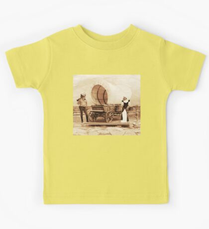 Old West Cowboy Cat and Saloon Kitty Kids Tee