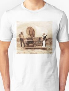 Old West Cowboy Cat and Saloon Kitty T-Shirt