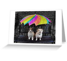 RAIN LOVERS... Greeting Card