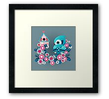 True Blue Framed Print