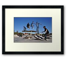 540 Spin with Grab way over kicker  Framed Print