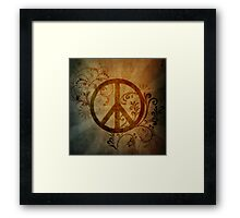 peace design  Framed Print