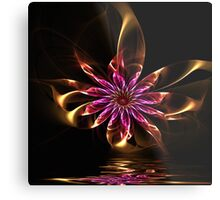 Flower Ribbon Metal Print