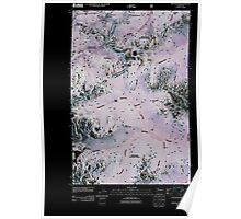 USGS Topo Map Washington State WA Stevens Pass 20110428 TM Inverted Poster