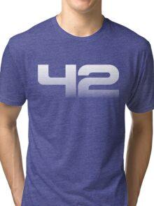 42 (fade down) Tri-blend T-Shirt