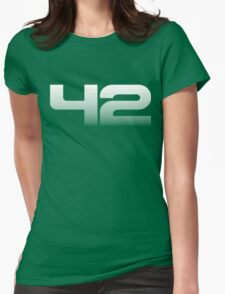 42 (fade down) Womens Fitted T-Shirt
