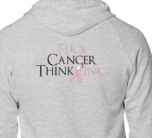 Breast Cancer Awearness Zipped Hoodie