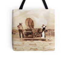 Old West Cowboy Cat and Saloon Kitty Tote Bag