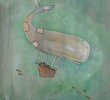 Green Whale Hero by Johanna Wright