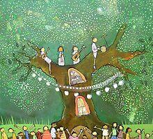 Green Tree Party by Johanna Wright