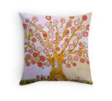 Cherry Tree Party Throw Pillow