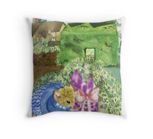 Mouse's Present Throw Pillow