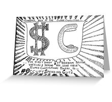 Occupy Super Committee cartoon Greeting Card