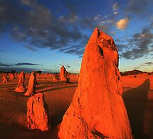 Pinnacles at Sunset by Jill Fisher