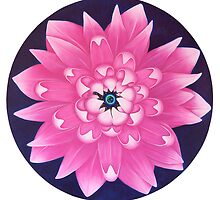 Pink Lotus - Sacred Earth - Univeruse - Heart  by Marieke Leest