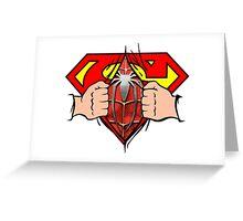 secret superman Greeting Card