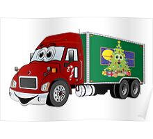 Christmas Delivery Truck Poster
