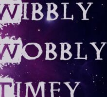 Wibbly Wobbly Sticker