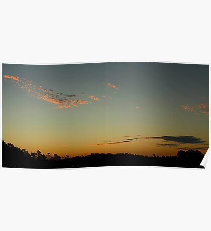 Wisps of Sunset Poster