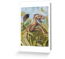 Raptor Rips up Genesis Greeting Card
