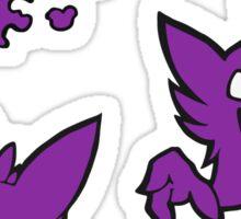 Evolution: Ghastly, Haunter, and Gengar - Color Sticker