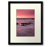 Burns Beach Seascape Sunset Framed Print