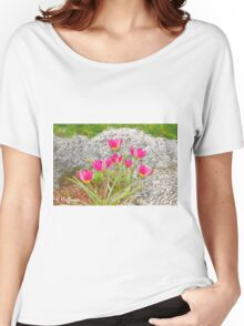 Pink Specie Tulips Women's Relaxed Fit T-Shirt