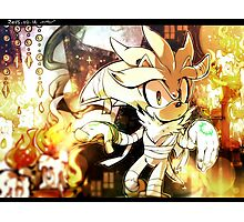 Silver the Hedgehog Halloween Photographic Print