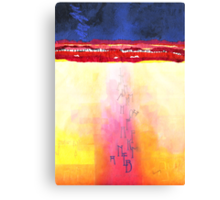 God sends letters to a new world Canvas Print