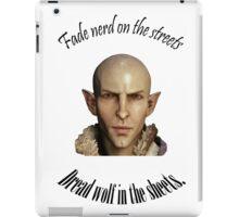 Solas - Fade Nerd, Dread Wolf iPad Case/Skin