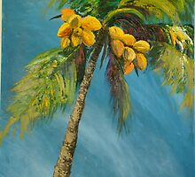 Coconut reaching for the sky by Gigi Guimbeau