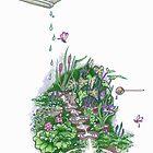 Flowform edible Station garden in Mauve by Cecilia Macaulay