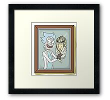 Rick and... Baby Birdperson? - Rick and Morty Framed Print