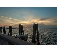 A Little Sunset Action!  Photographic Print