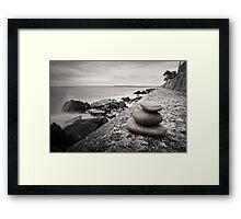 Balanced Pebbles Framed Print