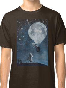 hot air balloon light bulb moon Classic T-Shirt