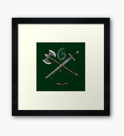 Dungeons & Dragons Weapons Framed Print